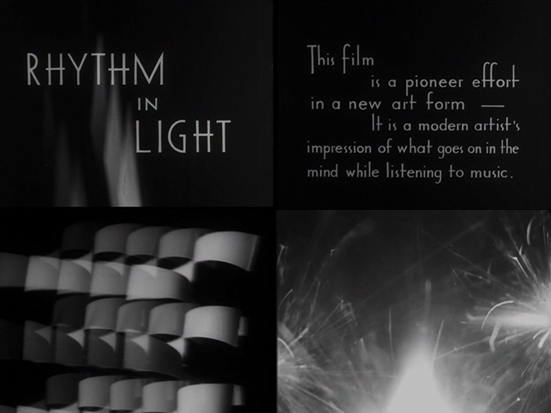 Mary Ellen Bute, Rhythm in Light, 1934–35