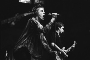 Sex Pistols in Paradiso in 1977: Johnny Rotten & Steve Jones