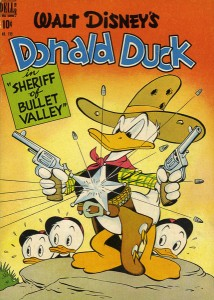 Carl Barks (1901–2000): Donald Duck (im Comic ab 1936) Sheriff of Bullet Valley, Four Color, Nr. 199, Oktober 1948, Privatsammlung, © Disney Enterprises