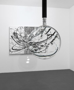 Katrin Fridriks, Perception of Stendhal Syndrome, magnifying glass installation, 2014, courtesy of Circle Culture Gallery