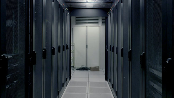 Server Farm, film still taken from <i>World Brain</i> by Stéphane Degoutin & Gwenola Wagon, episode 3