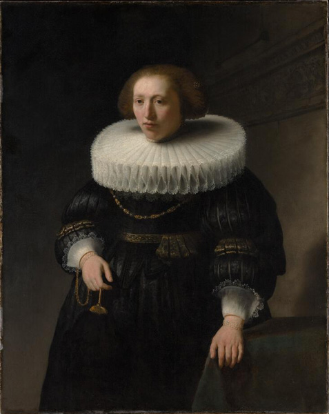 Rembrandt, Portrait of a Woman, 1632, probably a member of the Van Beresteyn family, canvas, oil paint,  111,8 x 88,9 cm. New York, The Metropolitan Museum of Art