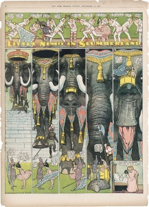 Winsor McCay, Little Nemo in Slumberland, Sonntagsseite The New York Herald, 23. September 1906, Privatsammlung
