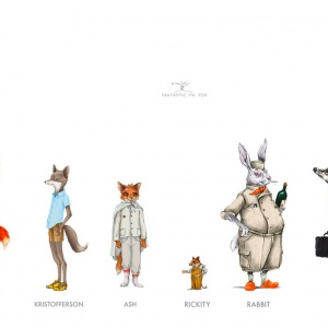 Félicie Haymoz, Line Up, character design for Wes Anderson's Fantastic Mr. Fox 2010
