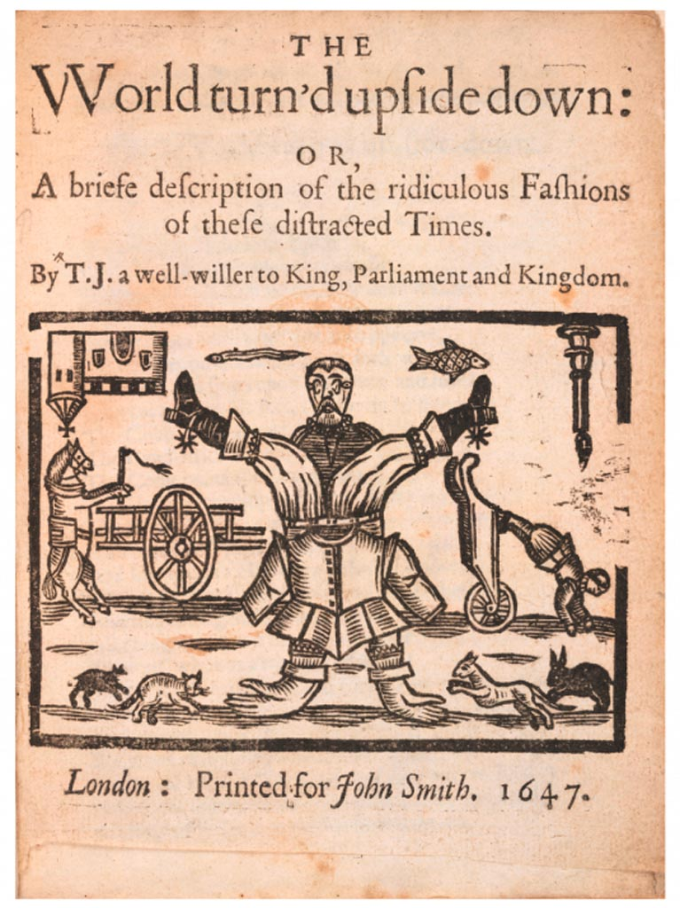 »The World turns upside down«, woodblock print by an anonymous artist, 17th century